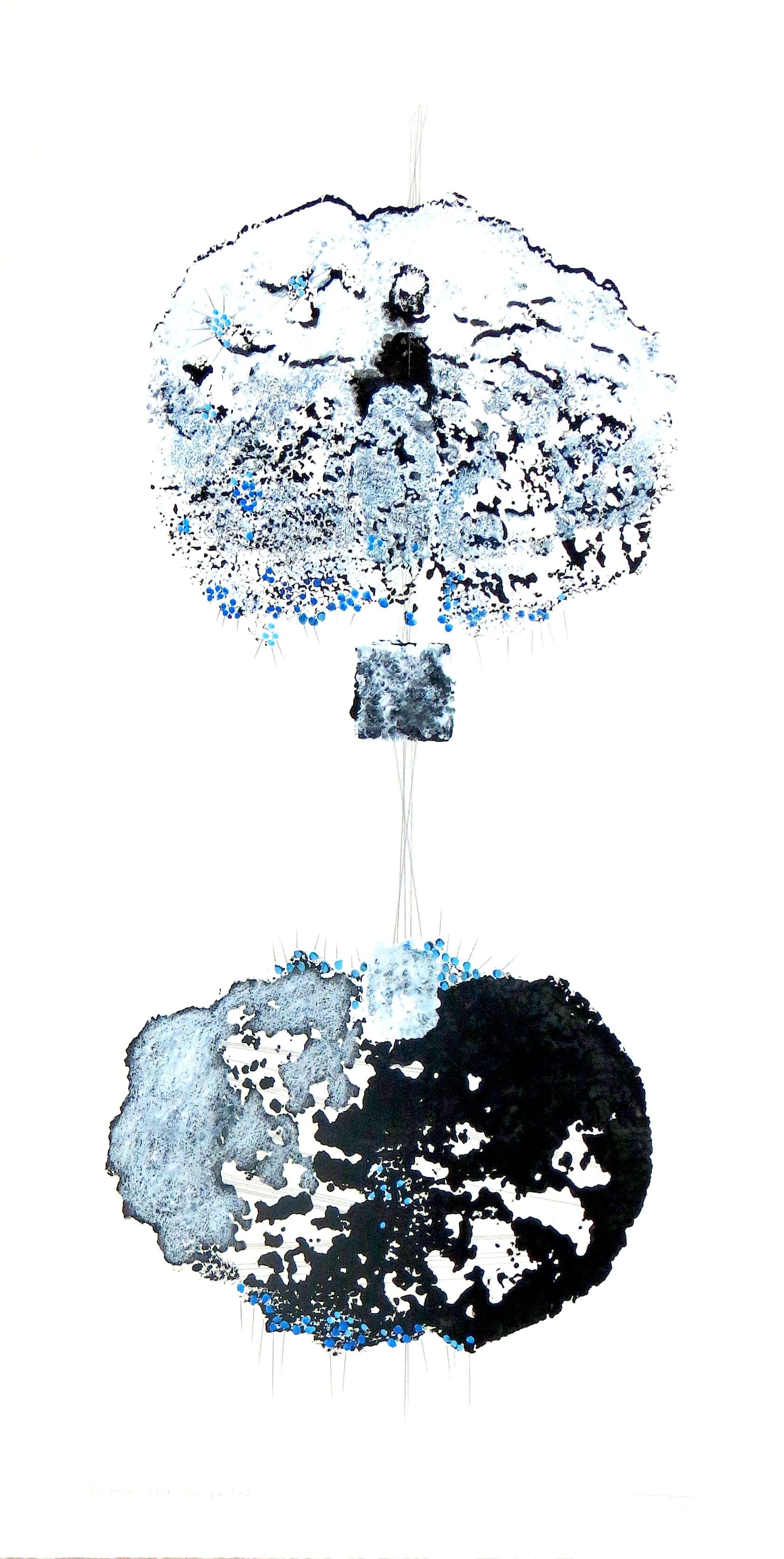 Le-Loup-et-moi-1-monotype-par-estampage-encre-et-crayon-sur-papier-BFK-80x40