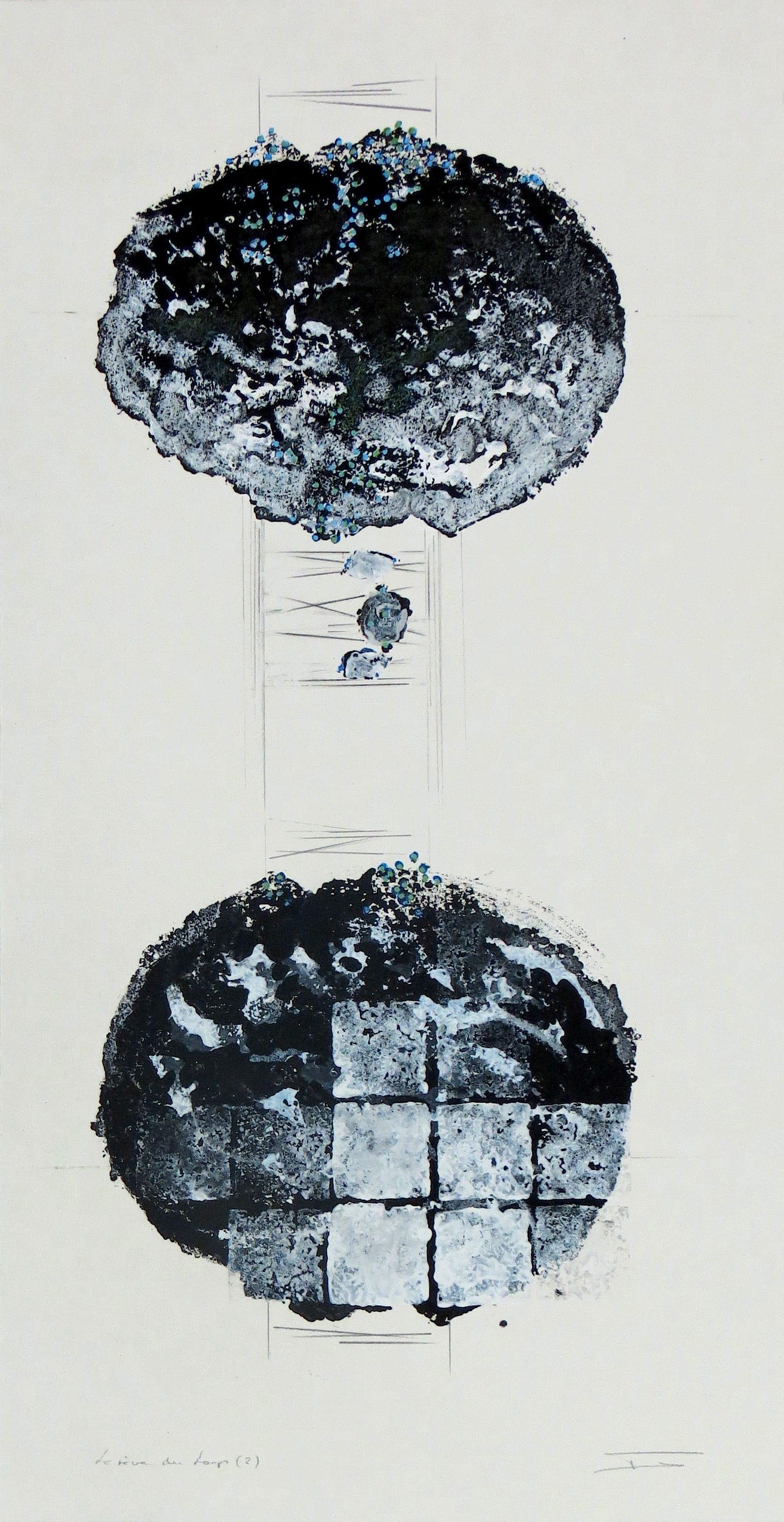 Le-Loup-et-moi-2-monotype-par-estampage-encre-et-crayon-sur-papier-BFK-80x40
