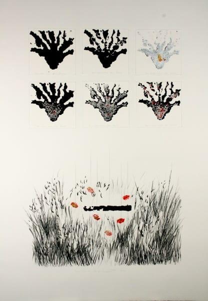Les-vies-du-Loup-monotype-par-impression-et-crayon-sur-papier-BFK-100x70-2013